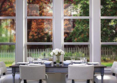 Tuscany Series offset single hung windows