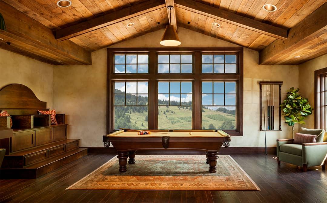 grid style window wood
